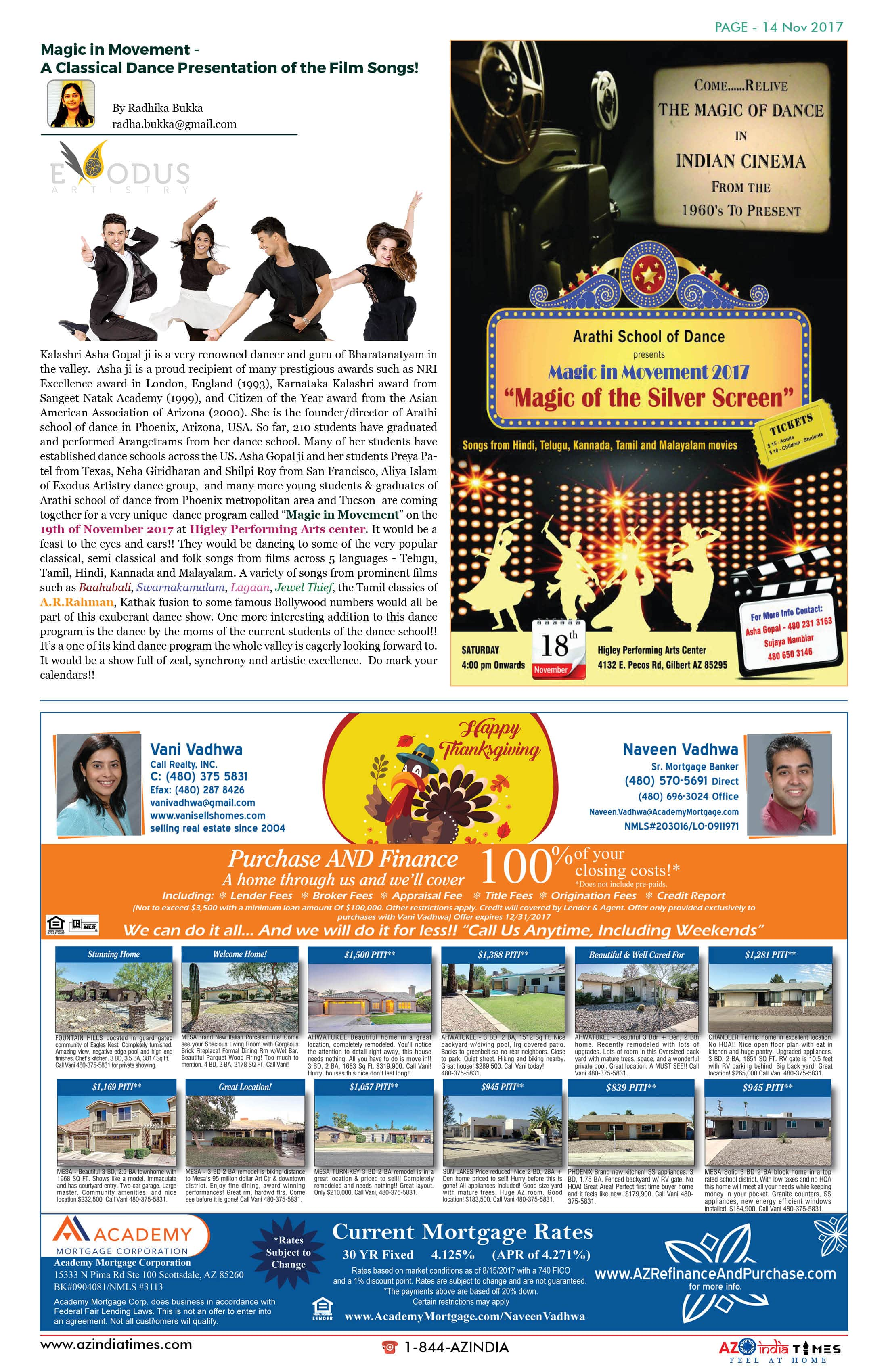 AZ INDIA TIMES NOVEMBER EDITION14