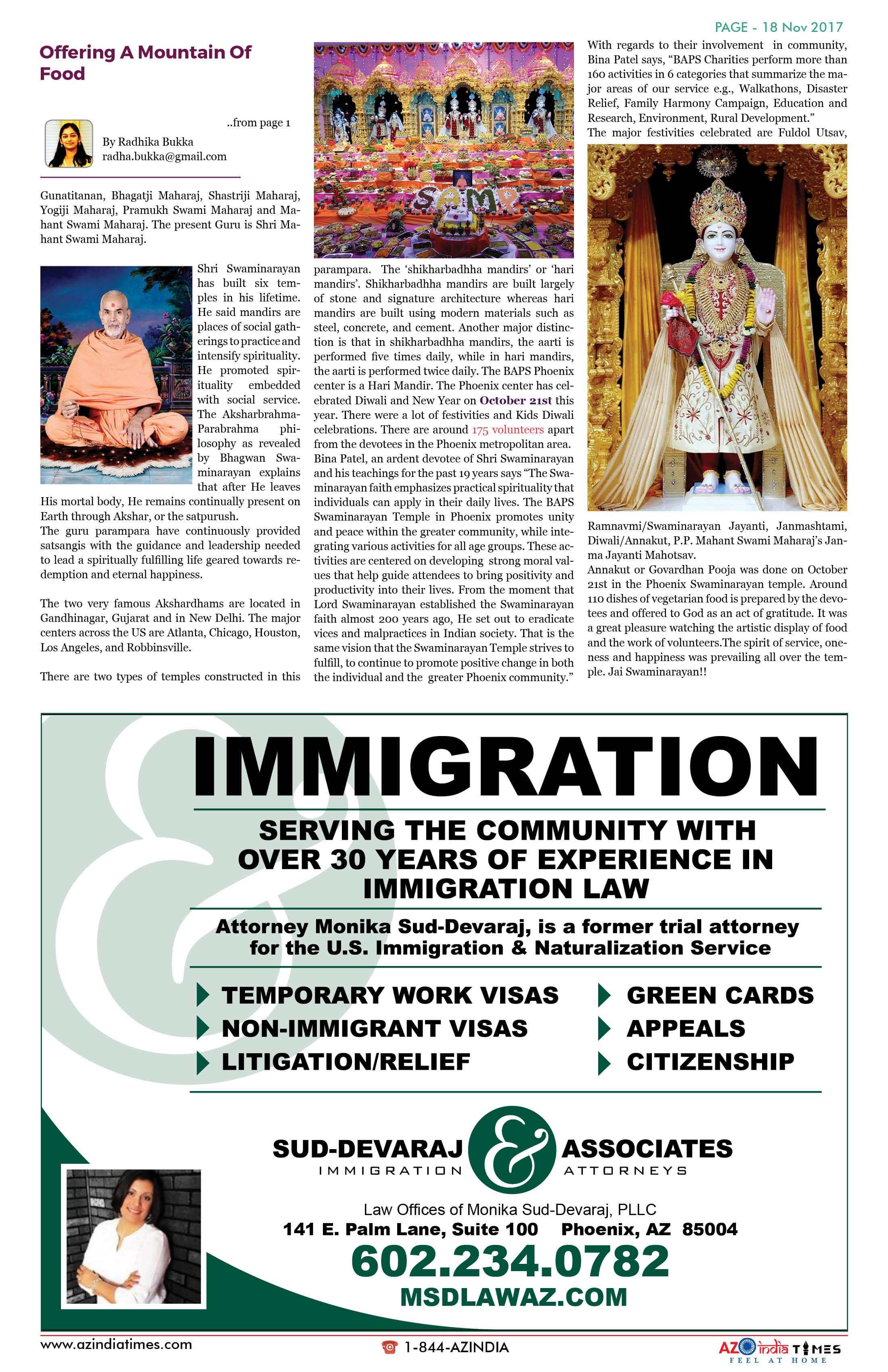 AZ INDIA TIMES NOVEMBER EDITION18
