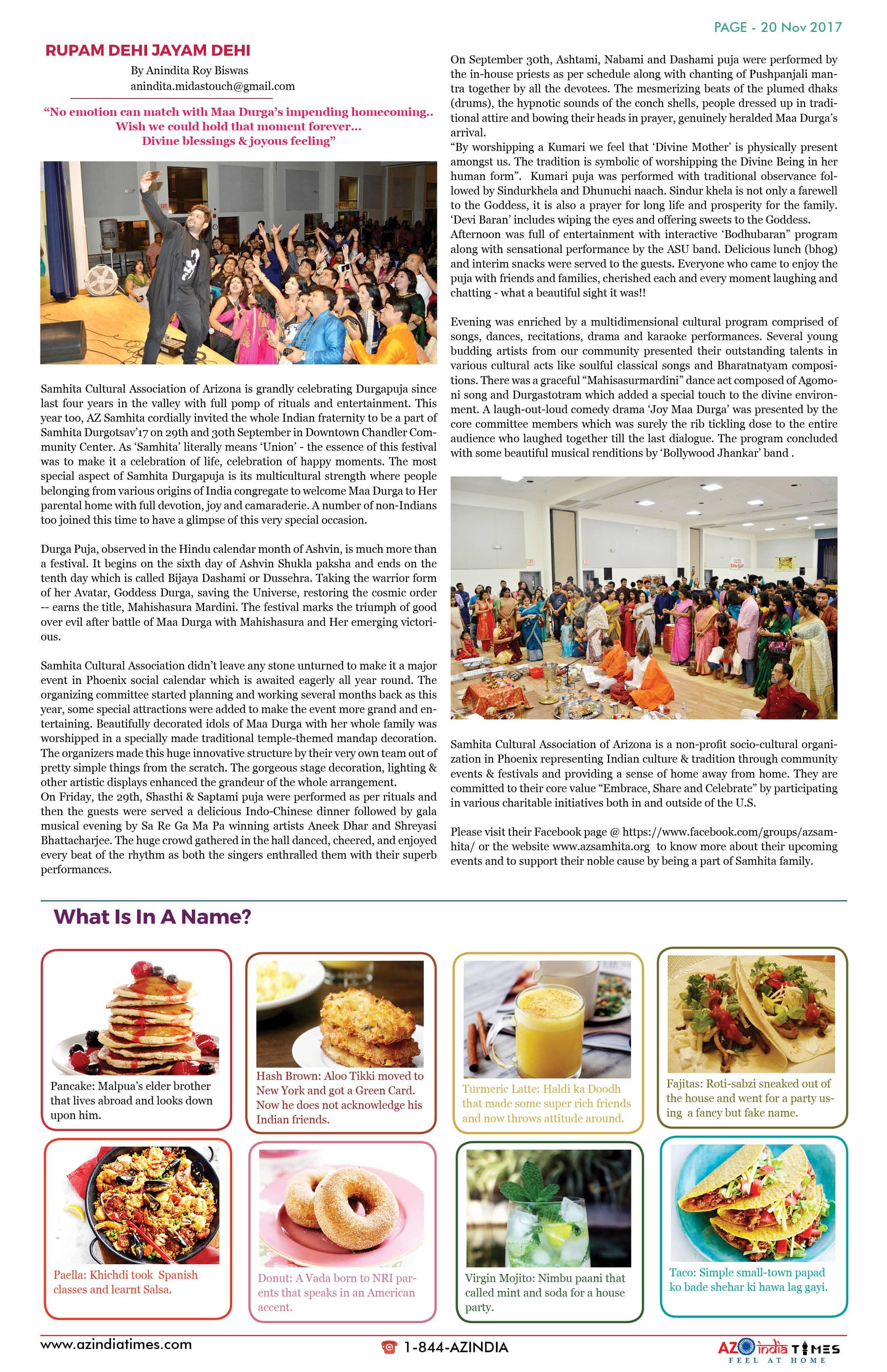 AZ INDIA TIMES NOVEMBER EDITION20