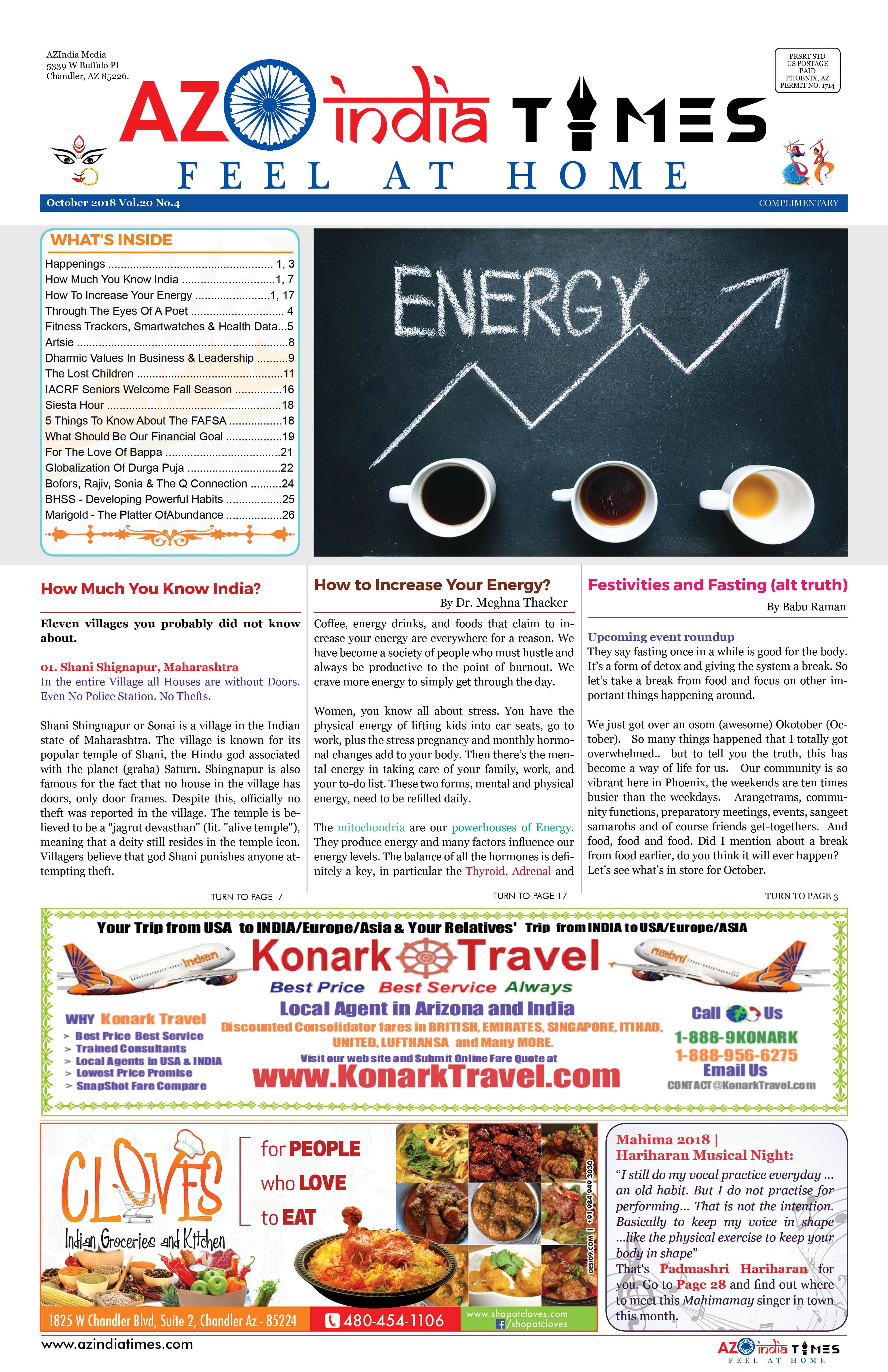 AZINDIA TIMES OCTOBER EDITION1