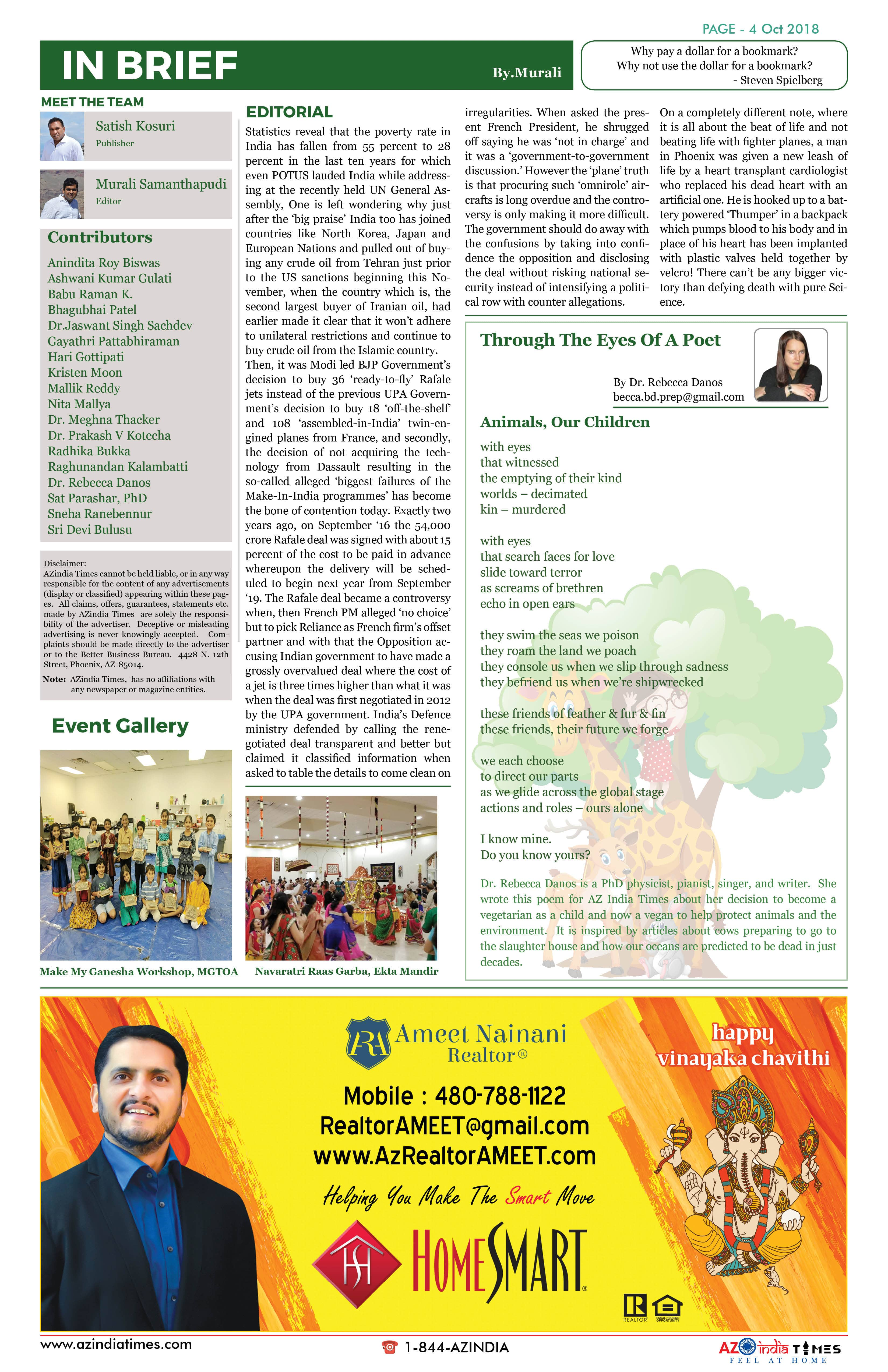 AZINDIA TIMES OCTOBER EDITION4